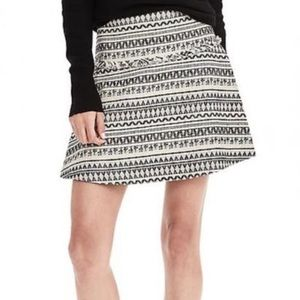 Banana Republic Tribal Jacquard Mini Skirt